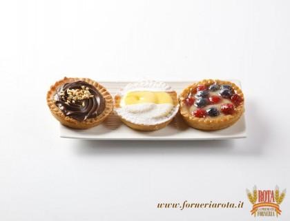 Crostatine Linome, Cioccolato e Frutti di bosco
